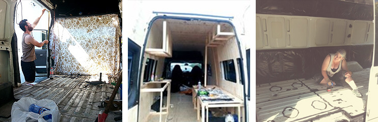 Customizing the van